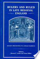 Rulers and Ruled in Late Medieval England