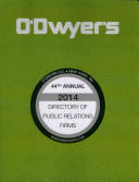 O'Dwyer's Directory Of Public Relations Firms, 2014