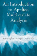 An Introduction to Applied Multivariate Analysis