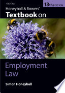 Honeyball and Bowers  Textbook on Employment Law