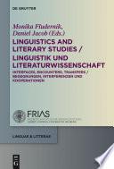 Linguistics And Literary Studies Linguistik Und Literaturwissenschaft