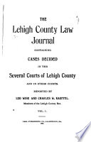 The Lehigh County Law Journal