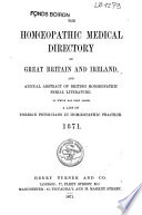 The Homoeopathic Medical Directory of Great Britain and Ireland