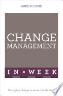 Change Management In A Week