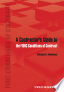 A Contractor s Guide to the FIDIC Conditions of Contract
