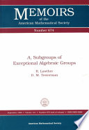 A1 Subgroups of Exceptional Algebraic Groups