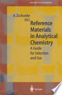 Reference Materials in Analytical Chemistry
