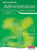 OCR Certificate in Administration Level 1 Student Book