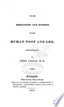 On the Mechanism and Motions of the Human Foot and Leg