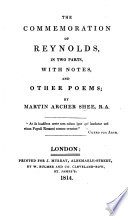 The Commemoration of Reynolds  in Two Parts  with Notes and Other Poems