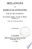 illustration du livre Mélanges de poésie et de littérature