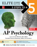 5 Steps to a 5: AP Psychology 2019 Elite Student Edition