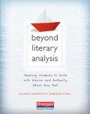 Beyond Literary Analysis