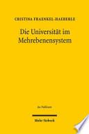 Die Universität im Mehrebenensystem