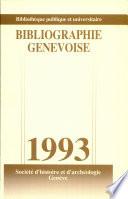 Bibliographie Genevoise 1993