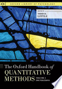 The Oxford Handbook Of Quantitative Methods Volume 1 Foundations