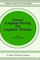 Natural language parsing and linguistic theories