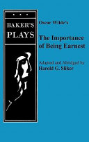 Importance of Being Earnest  the  One Act