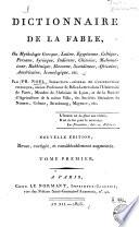 Dictionnaire de la fable,