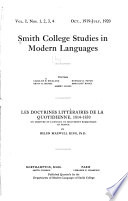 Smith College Studies in Modern Languages
