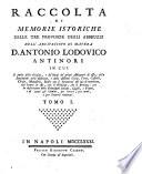 Raccolta di Memorie Istoriche delle Tre Province degli Abbruzzi