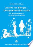 Jenseits von Bologna, Jurisprudentia literarisch