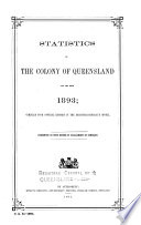 Statistics of the State of Queensland Book PDF