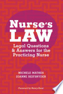 Nurse S Law Questions Answers For The Practicing Nurse