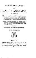 Book Nouveau cours de Langue Anglaise