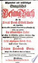 Evangelisches Gesang Buch f  r die k  preu    Schlesischen Lande