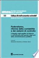 Federalismo, riforme della contabilità e dei sistemi di controllo