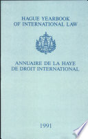 illustration Hague Yearbook of International Law: Vol. 4: Annuaire de La Haye de Droit International 1991