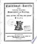 Einlösungs-Tariffe bey der kaiserlich-königlichen Schmelzhütte zu Brixlegg, für Silber und Bley, dann Bley allein haltende Erzte