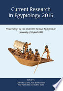 Current Research in Egyptology