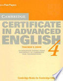 Cambridge Certificate in Advanced English 4 Teacher s Book