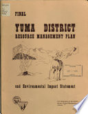 Yuma District Resource Management Plan and Environmental Impact Statement