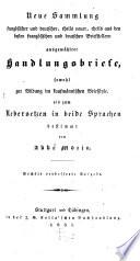 Neue Sammlung französischer und deutscher ... Handlungsbriefe