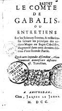 Le Comte de Gabalis ou entretien sur les sciences secrètes