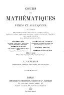 Cours de mathématiques pures et appliquées