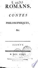 Romans  contes philosophiques  etc