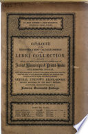 Catalogue of the Reserved and Most Valuable Portion of the Libri Collection