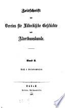 Zeitschrift des Vereins für Lübeckische Geschichte und Altertumskunde