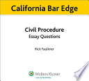 California Civil Procedure Essay Questions for the Bar Exam