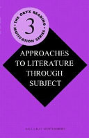Book Approaches to Literature Through Subject