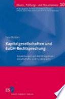 Kapitalgesellschaften und EuGH-Rechtsprechung
