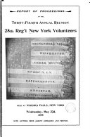 Report of Proceedings of the     Annual Reunion  28th Reg t New York Volunteers