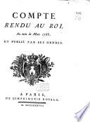 Compte rendu au roi, au mois de mars 1788