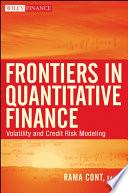 Frontiers In Quantitative Finance book