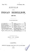 Annals of the Indian Rebellion