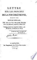 Lettre sur les principes de la foi chrétienne...